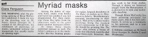 Masquerade Exhibition – Review